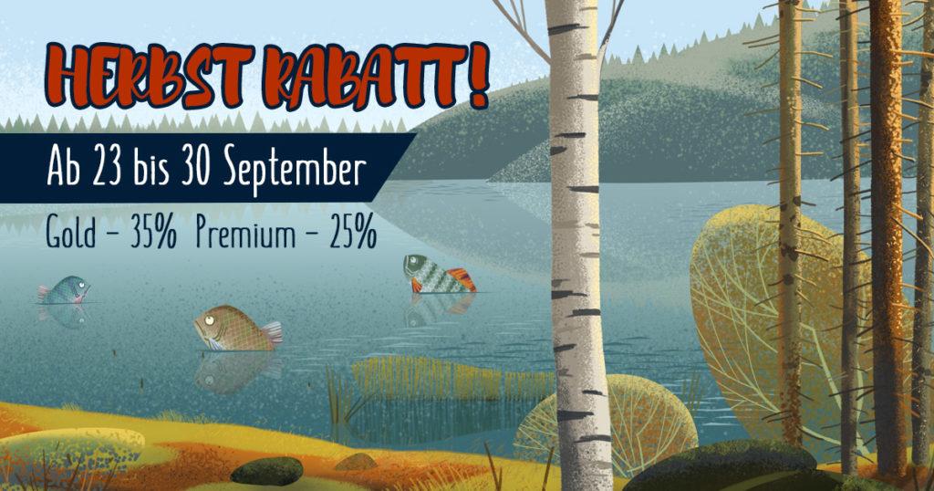 Rabattaktion Herbst auf Gold und Premium