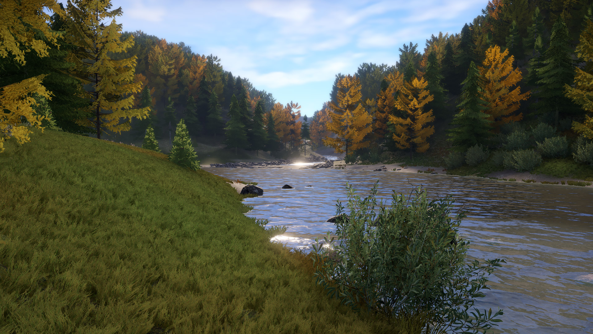 Fluss Tunguska Wasserfälle